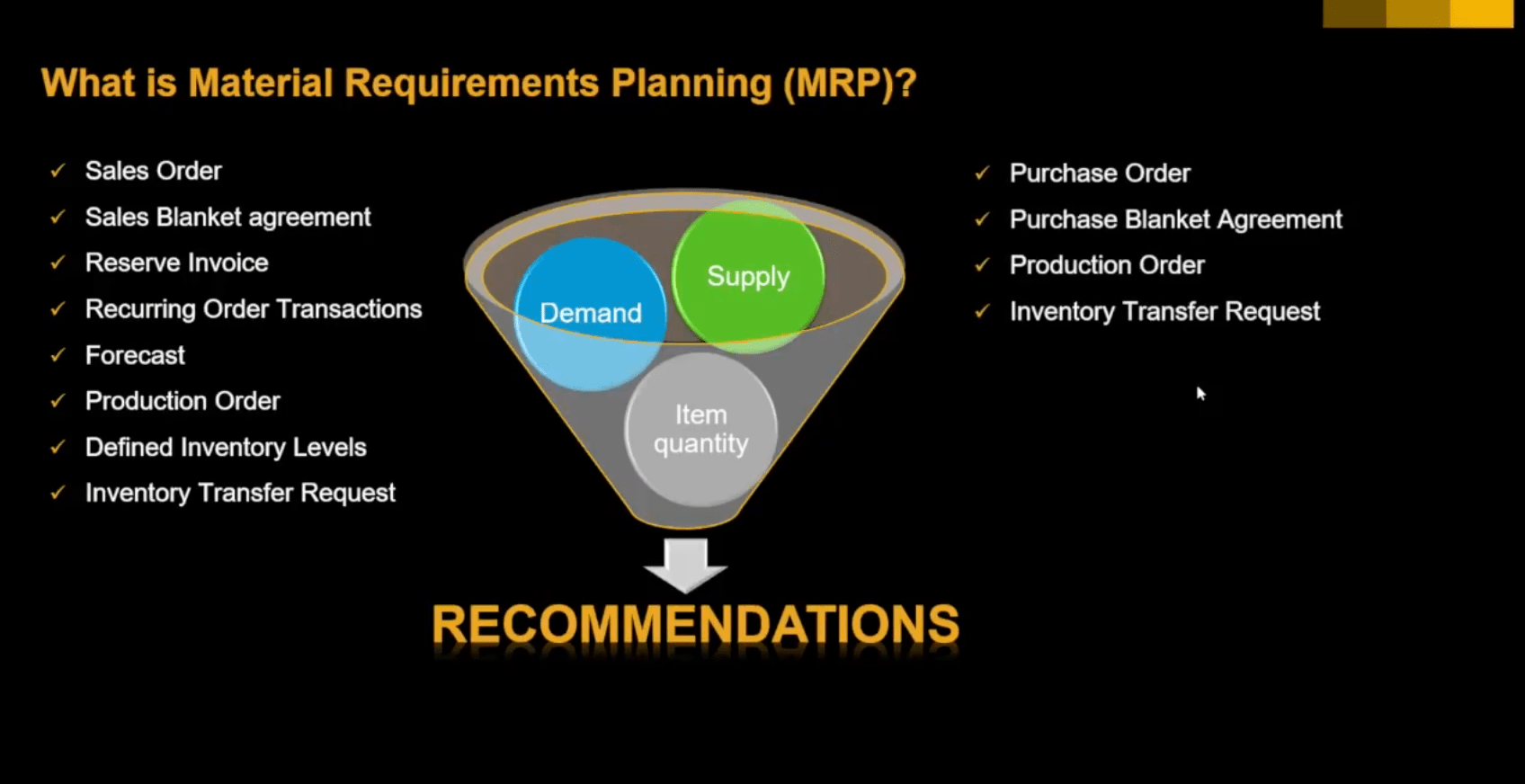 Material Requirements Planning in SAP Business One [TUTORIAL]