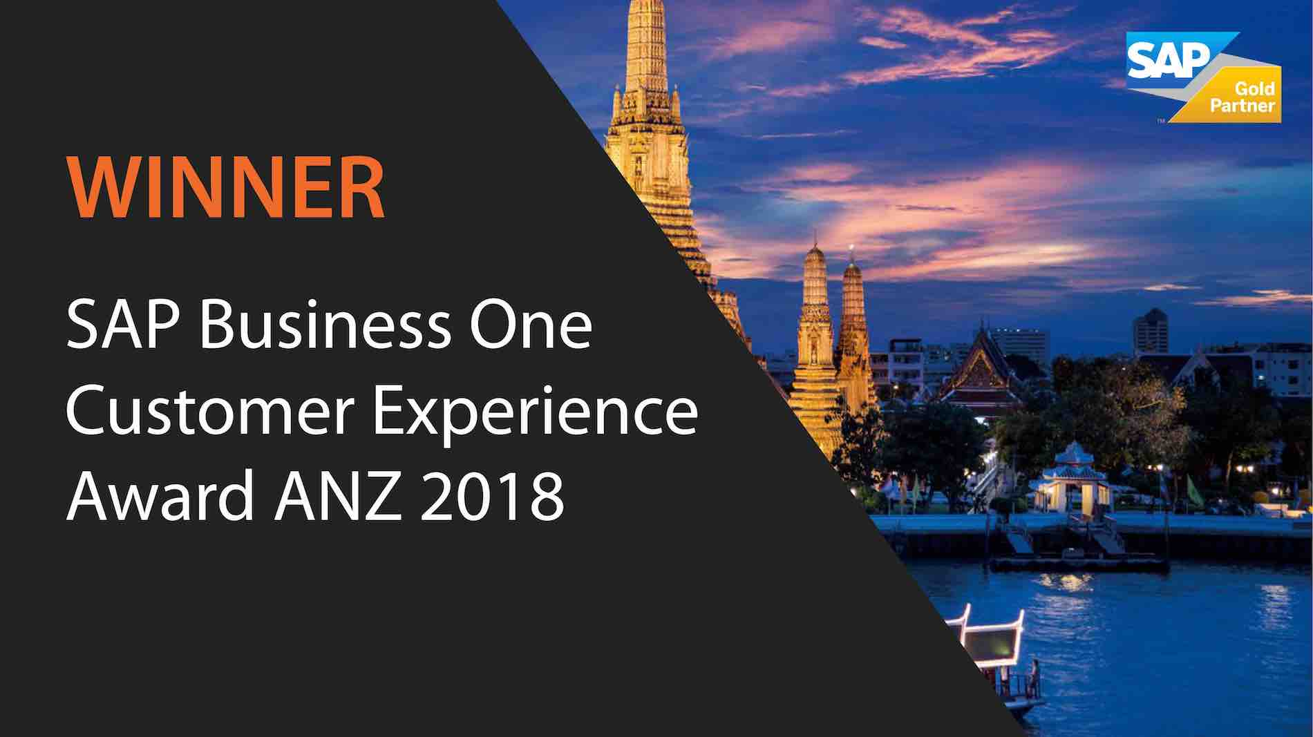 2018 ANZ SAP Business One Customer Experience Award