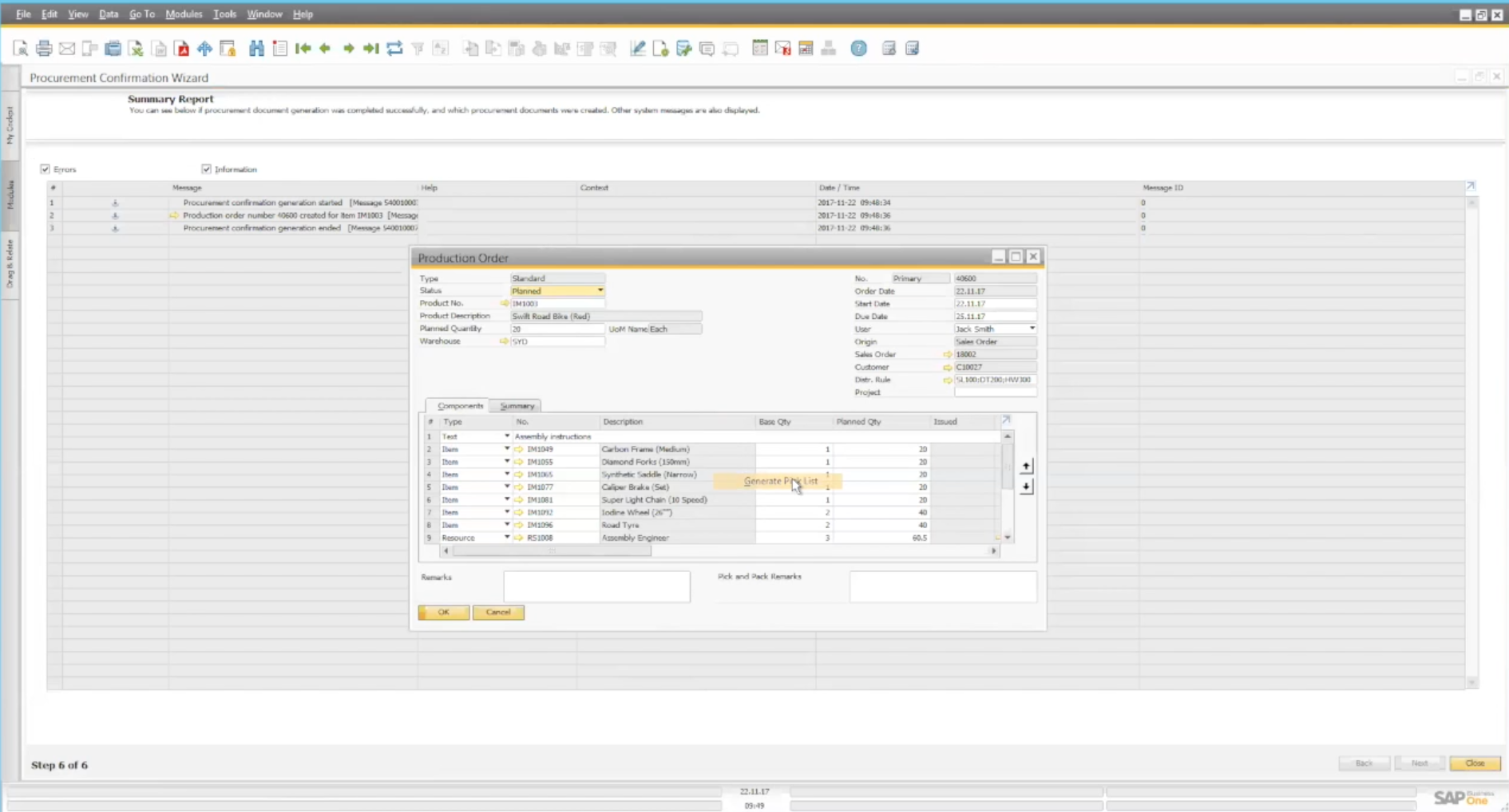 Sales Order management in SAP B1 part 2